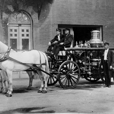 Ardmore Fire Department horse drawn