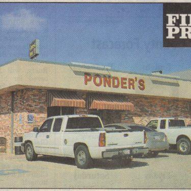 Ponder's Restaurant A